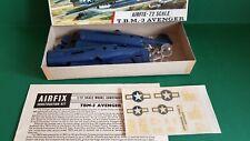 Vintage Airfix 1/72 T.B.M. 3 Avenger Model Aircraft Kit Red Stripe Box  196