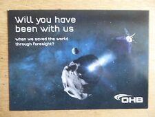 2019 CARTE POSTALE OHB SPACE CAREER SATELLITE ESPACE PLANETE
