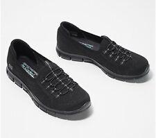 Skechers Knit Bungee Slip-On Sneakers Gratis More Playful BLACK US 8.5 Stretch