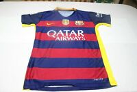 "Camiseta Futbol FC BARCELONA Qatar Airways 22 ALEIX VIDAL Talla ""S"" 48x68 cm"