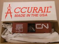 HO SCALE ACCURAIL CANADIAN/CANADIEN NATIONAL 560158 AAR 40' STEEL BOX CAR KIT