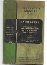 Oem Oe John Deere 812 813 Integral 2 and 3 Bottom Tractor Plows Operators Manual