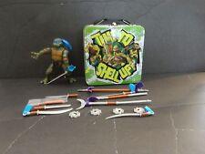 Nickelodeon Teenage Mutant Ninja Turtle Leo 2005  with Lunch Box and Weapons