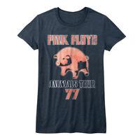 Pink Floyd Animals Album USA Tour 1977 Pig Womens T Shirt Rock Band Concert Top