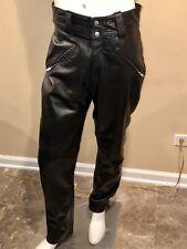 Vintage Men's Amf Harley Davidson Leather Pants Sz 32 Folsom Black Biker