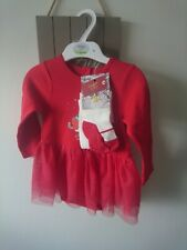 M&S baby girl Christmas outfit set 12-18 months BNWT