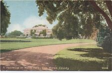 1910 Postcard of Large Mansion at Menlo Park San Mateo County CA