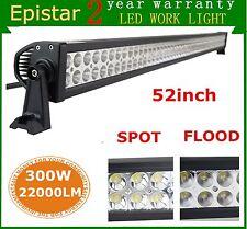 52inch 300W LED Work Light Bar Combo Off-road SUV Car Boat Truck Lamp 12V 24V