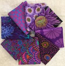 Kaffe Fassett Collective Midnight Smoldering Purples 8 Fqs Bundle Floral Fabric