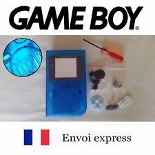 Coque GAME BOY fat original transparent bleu NEUF + triwing - étui shell case
