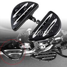 2x Deep Cut Motorcycle Rear Passenger Foot Pegs Floorboards For Harley-Davidson