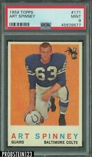 1959 Topps Football #171 Art Spinney Baltimore Colts PSA 9 MINT