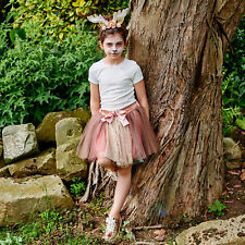 Beautiful Woodland Fawn Deer Dress Up Set Headband Sparkle Flower Animal Costume