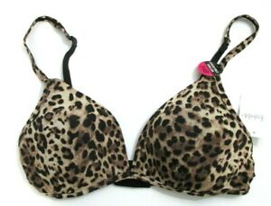 Frederick's of Hollywood Leopard Wireless Monica Extra Credit Bra size 34B []