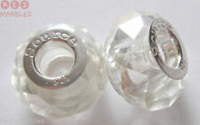 Perline sfuse di vetro trasparente