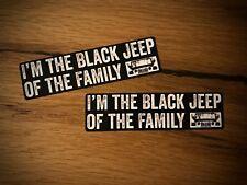 2x Black jeep pegatinas Wrangler todoterreno transformación 4x4 tuning SUV v8 CRD diesel #233