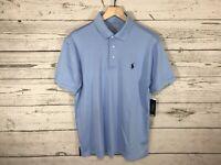 Polo Ralph Lauren Mens Light Blue Performance Polo Shirt Size Medium NWT