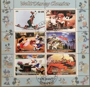 Mauritania 2003 M/S Walt Disney Cartoon Animation Mickey Mouse Stamps CTO (1)