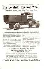 1920 ad Vintage Car part Cornfield Resilient Wheel old Truck Repair shop equip
