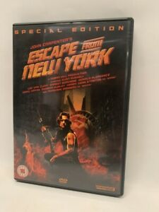 ESCAPE FROM NEW YORK rare OOP UK DVD CULT John Carpenter sci-fi movie
