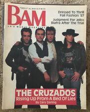 BAM MUSIC MAGAZINE - CRUZADOS - JELLO BIAFRA TRIAL - DK's  Sept 25 1987 #267