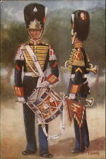 Dutch Netherlands Military Uniforms Garderegiment Grenadiers 1949 Postcard #3