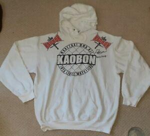 DARREN TILL SIGNED TEAM KAOBON HOODED SWEATSHIRT LARGE L MMA UFC BJJ KICK BOXING