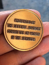 Authentic Defense Advisory Committee on Women in the Service DACOWITs Coin -152