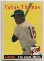 1958 Topps #86 Valmy Thomas EX-MT Rookie San Francisco Giants FREE SHIPPING