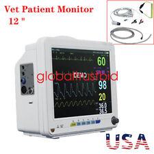 New Listingportable Veterinary Patient Monitor Nibp Spo2 Ecg Temp Resp Pr Vital Signs New