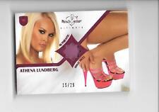 2009 Benchwarmer Ultimate Athena Lundberg Pink High Heel Shoe Swatch Relic /25