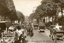 Carte PARIS Boulevard des Italiens Le trafic