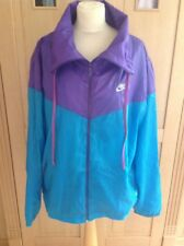 GREAT NIKE LIGHTWEIGHT TURQUOISE/PURPLE JACKET UK SIZE XL WORN GOOD CONDITION