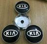 4 Pcs 60mm For Kia Wheel Center Caps Emblems Rim Caps Hub Caps Badges Black