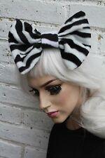 Big Cabello Moño-Zebra Polar el pelo pinza Indie Grunge japonés Street Fashion