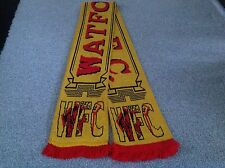 WATFORD UNITED F C .CRESTED SUPPORTERS SCARF .THE HORNETS.FREE POST