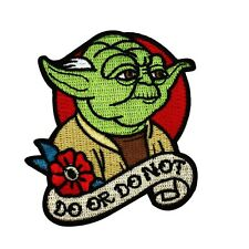 """Master Yoda """"Do Or Do Not"""" Star Wars Jedi Quote Patch DIY Iron-On Craft Applique"""