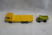 MATCHBOX SUPERFAST N28 ENGLAND LESNEY DUMP TRUCK & CONSTRUCTION TRANSPORTER K36
