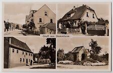STUTTGART-STAMMHEIM Gasthof Goldener Stern, Bäckerei & Metzger * Foto-AK um 1930