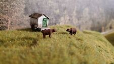 N Scale Brown or Black Bear 1:160 scale Model Train Railroad painted READ