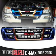 FRONT GRILL GRILLE TITANIUM RED LOGO FIT FOR ISUZU DMAX D-MAX RODEO 02-06 PICKUP