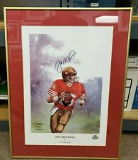 Joe Montana Autographed San Francisco 49ers Framed Limited Edition Poster Print