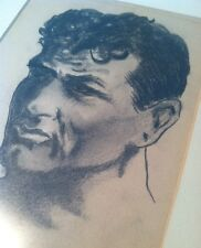 JACK DEMPSEY Boxing Heavyweight Champion SIGNED DRAWING c.1931 OOAK Framed