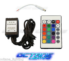 24 Key 16 Color IR Remote Control Controller SMD RGB LED Strip 12V 4-Head Snap