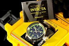 Invicta Russian Diver Swiss Made 52MM Luminuous Dial SS Inserts Poly Strap Watch
