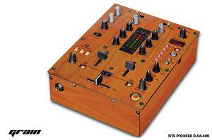 Skin Decal Wrap for PIONEER DJM-400 DJ Mixer Pro Audio DJM400 Parts - WOOD GRAIN