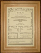 60th 65th Different Personalised Birthday Scroll Gift