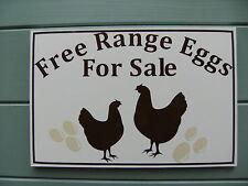 rigid a4 free range eggsforsale sign eglu/coop ideal free p&p