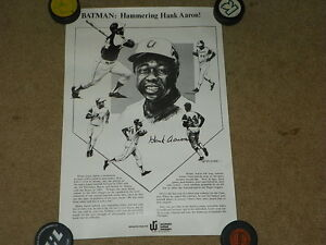 "C. 1974 Hank Aaron Westchester Rockland Newspapers 15"" x 22""  baseball poster"