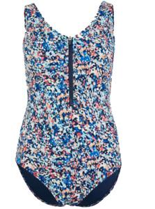 Brand New Ex M&S Secret Slimming Floral Zip Front Plunge Swimsuit Sizes 6-24